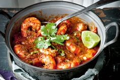 Katie Quinn Davies recommends these chilli and tamarind prawns for a curry-style dinner with lots of heat but that won't weigh you down.