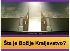 U Mateja 6:9, 10 , Isus Krist nam je rekao da se mole za Božje Kraljevstvo koje dolaze. Ali, šta je to Kraljevstvo, i kako će to pomoći nama? Saznati ovdje. https://www.jw.org/bs/izdanja/knjige/dobre-vijesti-iz-bozije-rijeci/sta-je-bozije-kraljevstvo/ (At Matthew 6:10, Jesus Christ told us to pray for God's Kingdom to come. But what is this Kingdom, and how will it help us? Find out here.)
