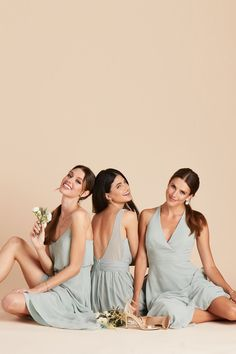 Gwennie Chiffon Bridesmaid Dress in Sage – Birdy Grey Group Picture Poses, Family Portrait Poses, Poses Photo, Family Posing, Portraits, Group Poses, Group Photography Poses, Sister Photography, Sister Poses