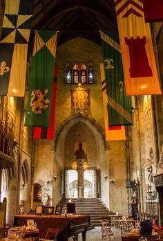 Great Hall, Hammond Castle Gloucester, MA༺ ♠ ŦƶȠ ♠ ༻ Hammond Castle, John Hay, Gothic Castle, Handfasting, Gloucester, Cathedrals, New England, Castles, Boston