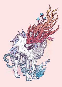 Spirit Animal - Wolf iPhone Case by Mat Miller - iPhone 11 - Tough Case Animal Drawings, Art Drawings, Hero Marvel, Manga Kawaii, Wolf Canvas, Wolf Spirit Animal, Spirit Animal Tattoo, Art Asiatique, Nature Spirits
