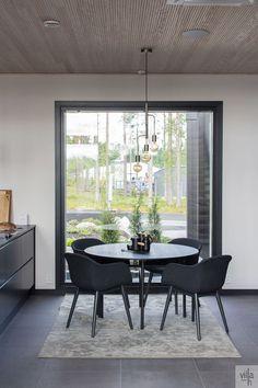 Villa, New Homes, Dining Table, Windows, Interiors, Furniture, Blog, Home Decor, Decoration Home