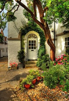 "tselentis-arch: "" Little cottage in St Mary's, East Sussex, England Vines over an arched entrance Photo: via Diana Benson England """
