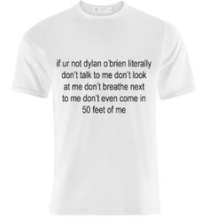 Ur not Dylan O'brien t shirt by horsewaffles on Etsy have to have