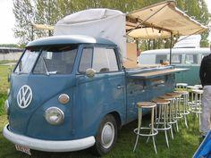 Volkswagen Spijlbus met bar