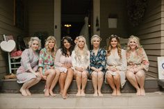 bridesmaids in pretty robes