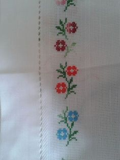 This Pin was discovered by ayl Small Cross Stitch, Cross Stitch Needles, Cross Stitch Borders, Cross Stitch Flowers, Cross Stitch Charts, Cross Stitch Designs, Cross Stitching, Cross Stitch Patterns, Ribbon Embroidery