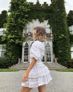 Neutral Style, Summer Vibes, White Dress, Fancy, Hair, Dresses, Fashion, Vestidos, Moda