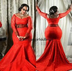 If there is one element that is always present in nigeria fashion,it is glorious Aso Ebi styles. Latest African Fashion Dresses, African Print Fashion, African Attire, African Wear, Curvy Fashion, Plus Size Fashion, Africa Dress, Beautiful Maxi Dresses, African Traditional Dresses