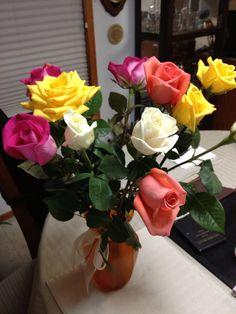 Happy Valentines day roses.