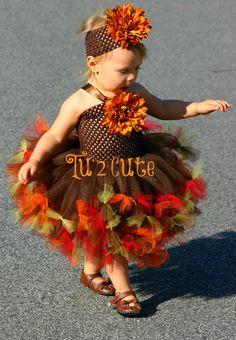 Happy Turkey Day Tutu Dress by on Etsy Diy Tutu Skirt, Tulle Tutu, Tulle Dress, Tutu Skirts, Mini Skirts, Dress Up Outfits, Girl Outfits, Little Girl Dresses, Flower Girl Dresses
