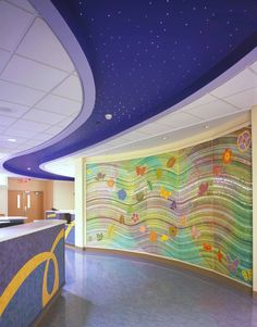 Children's Medical Center Dallas - Care Giver Station and Themed Mosaic Landmark. Design by Mitchell Associates.