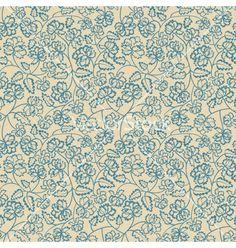 Seamless flower pattern vector - by Iuliia_P on VectorStock®