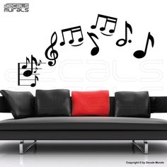 Vinyl MUSICAL NOTES Wall decals by decalsmurals would make perfect wall art for the music enthusiast,