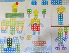 painting with numicon Year 1 Maths, Early Years Maths, Early Years Classroom, Early Math, Early Learning, Maths Eyfs, Fun Math, Teaching Math, Preschool Activities
