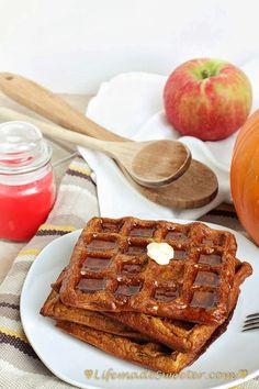 Pumpkin Waffles @Kelly @ Life made Sweeter