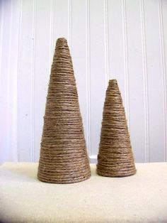 maybe make a forest with these jute wrapped trees and the felt trees...