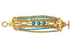 Turquoise Toggle Bracelet on OneKingsLane.com
