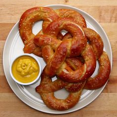 Recipes Snacks Baking Homemade Soft Pretzels Recipe by Tasty Homemade Soft Pretzels, How To Make Pretzels, Baked Pretzels, Baking Recipes, Snacks Recipes, Easy Recipes, Bread Recipes, Pudding Recipes, Baking Tips