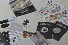 Stickers, gomnettes étoiles et alphabet, cartes de voeux, diy et tuto...tout le nécessaire pour préparer une jolie déco de table :)