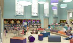 kids library interior - Google Search