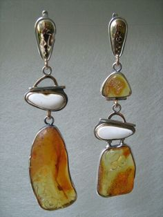 Amber , silver