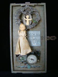 Second Thoughts -mixed media assemblage by Dianne Hoffman