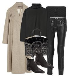 """""""Untitled #11079"""" by minimalmanhattan on Polyvore featuring Yves Saint Laurent, Belstaff, Lemaire, Marni, Acne Studios, women's clothing, women, female, woman and misses"""