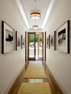 Make sure your bulbs are bright! The more light that your hallway receives the larger it will look. It's really quite simple and easy to fix! Easy Ways To Make Your Hallways Look Bigger & Brighter