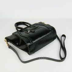 02cab6e6c7 Celine mini luggage tote bag in black snake vein