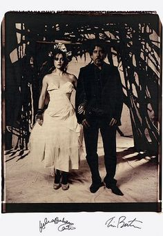 Tim Burton and Helena Bonham Carter photographed by Vivienne Westwood