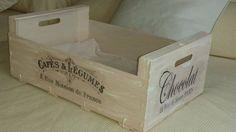 Cajas de frutas recicladas