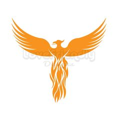 Clipart Gold Phoenix  Bird Instant Download.  For Cricut, Silhouette, Vinyl Cutters and Screen Printing