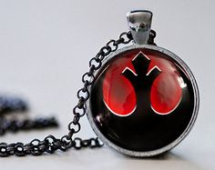 Star Wars : Rebel inspiré Alliance pendentif collier - Bijoux de Star Wars - Star Wars pendentif