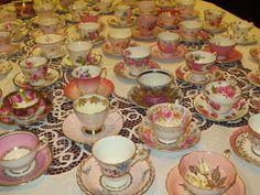 Karen's Cottage and Castle: Plenty of Pretty Pink Teacups