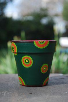 macetas pintadas a mano - ideales para regalar como souvenir o para decorar tu casa!