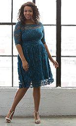 Plus Size Lace Party Dress - Plus Size Cocktail Dress {affiliate link} Cocktail Dresses With Sleeves, V Neck Cocktail Dress, Plus Size Cocktail Dresses, Wedding Dresses With Straps, V Neck Wedding Dress, Plus Size Formal Dresses, Dress Plus Size, Lace Overlay Dress, Lace Midi Dress