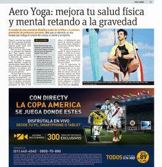 Formación Yoga Aéreo © LIMA: Entrevistas con Rafael Martinez en Perú, Creador Métodos AeroYoga® AeroPilates®   AeroYoga Perú