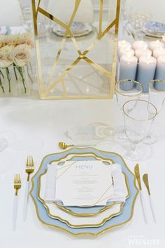 Gold and blue Wedding Table Deco, Wedding Decorations, Table Decorations, Dream Photography, E Magazine, Blue Dream, Blue Wedding, Tablescapes, Wedding Inspiration