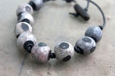 Organic style ceramic beads by CeramicSoul on Etsy, $45.00