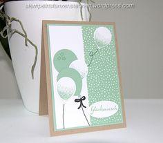 Birthday Card, Geburtstagskarte, carte d'anniversaire, Handmade with Stampin' Up!, DSP, Designer Series Paper, Geburtstagsstrauß, Partyballons, Crumb Cake, Savanne, Birthday Bouquet, Balloon Celebration,   https://stempelnstanzenstaunen.wordpress.com/, BastelBazzzille