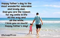 Fathers day wishes with fathers and adorable baby girl