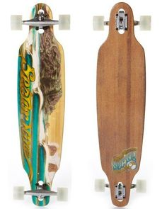 """Sector 9 Bamboo Longboard Complete Drop-through Deck """"Punta Lobos"""" 42in x 9.5in w/ Gullwing Charger trucks"""