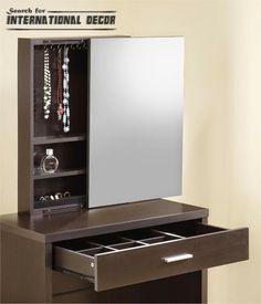Modern Dressing Table Mirrors Shoe Storage Cabinet Mirror Locker