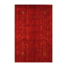 Indo Hand-loomed Red/ Gold Gabbeh Wool Rug (2' x 3') | Overstock.com Shopping - Big Discounts on Accent Rugs