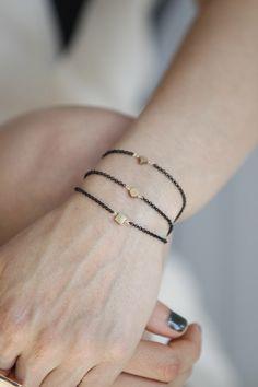 Black Chain + Charm Bracelet