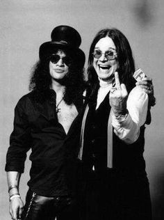 Slash and Ozzy