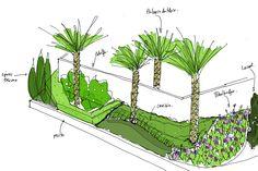 Jardín Mediterráneo | David Jiménez. Arquitectura, paisajismo y jardines.                                                                                                                                                                                 Más Plants, Google, Sketch, David, Gardens, Landscape Architecture, Vivarium, Landscaping, Decks
