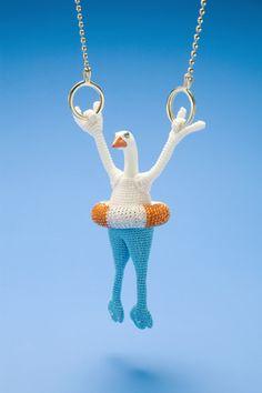 Felieke van der Leest   jewellery & objects der leest, van der, jewelry design, colors, feliek van, necklac, duck, plastic animals, beads