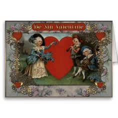Valentines Day - Lady and musicians. Valentines Day - Greeting Cards in Vintage Style Vintage Valentine Cards, Valentine Day Cards, Vintage Style, Vintage Fashion, Valentine's Day Greeting Cards, Musicians, Create Your Own, Best Gifts, Lady